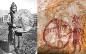 "Imatges de la xerrada ""Finding drum inside the rock: Siberian shamanism, rock art and archetypal creativity"""